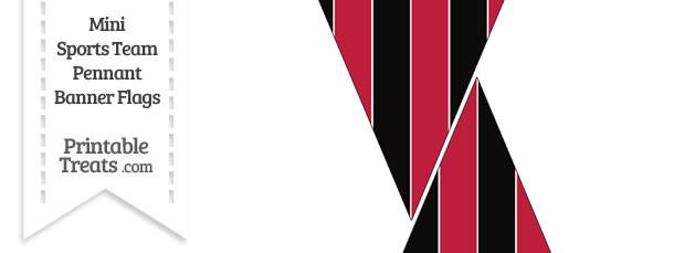 Falcons Colors Mini Pennant Banner Flags
