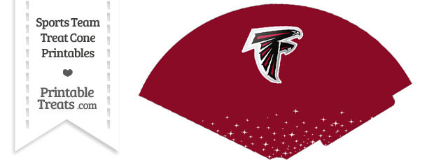 Falcons Treat Cone Printable