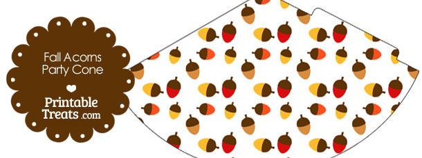 Fall Acorns Party Cone
