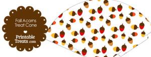 Fall Acorns Printable Treat Cone