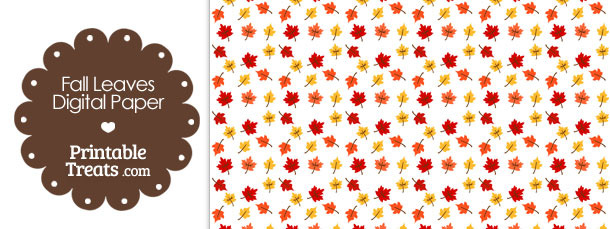 Fall Leaves Digital Scrapbook Paper