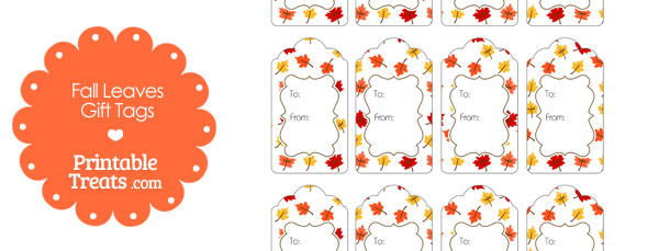 Fall Leaves Gift Tags