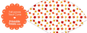 Fall Leaves Printable Treat Cone