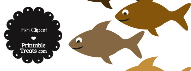 Fish Clipart in Shades of Brown