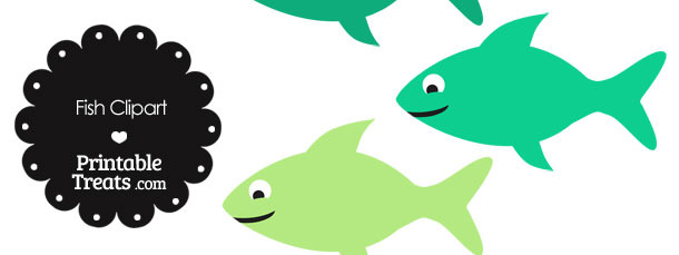 Fish Clipart in Shades of Green