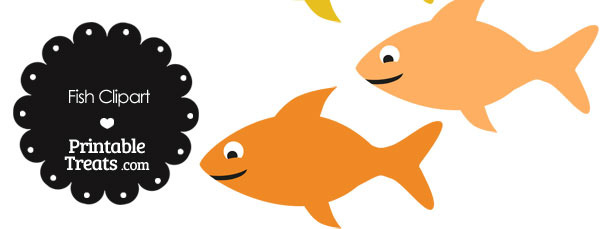 Fish Clipart in Shades of Orange