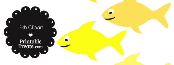Fish Clipart in Shades of Yellow