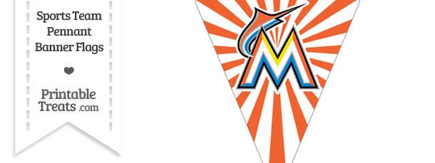 Florida Marlins Pennant Banner Flag