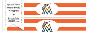 Florida Marlins Water Bottle Wrappers