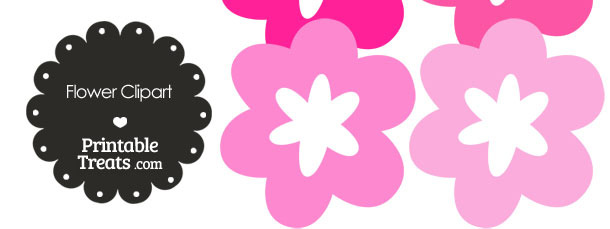 Flower Clipart in Shades of Pink