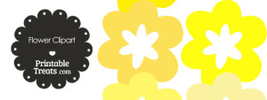 Flower Clipart in Shades of Yellow