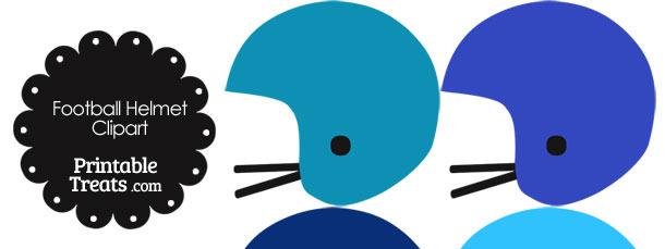 Football Helmet Clipart in Shades of Blue