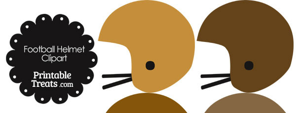 Football Helmet Clipart in Shades of Brown