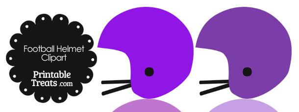 Football Helmet Clipart in Shades of Purple