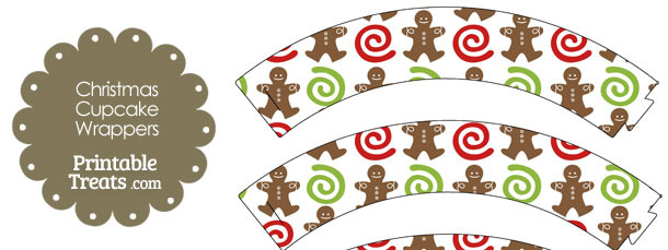 Gingerbread Cookie Cupcake Wrappers
