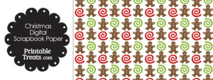 Gingerbread Cookie Digital Scrapbook Paper