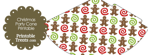 Gingerbread Cookie Party Cone