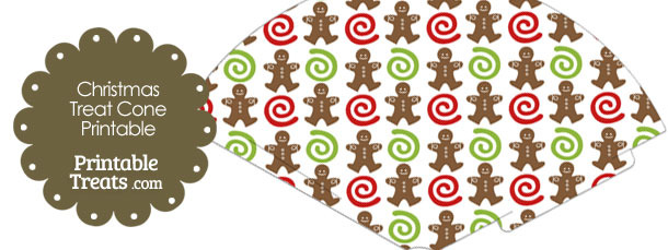 Gingerbread Cookie Printable Treat Cone