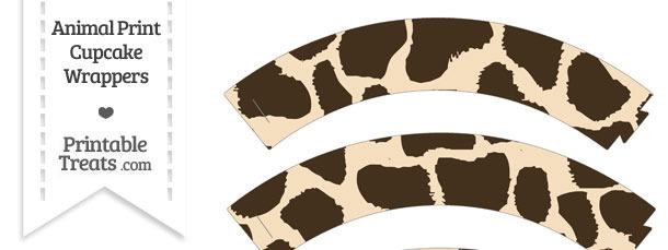 Giraffe Print Cupcake Wrappers
