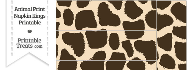 Giraffe Print Napkin Rings