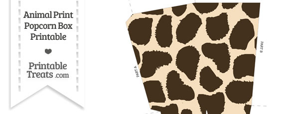 Giraffe Print Popcorn Box