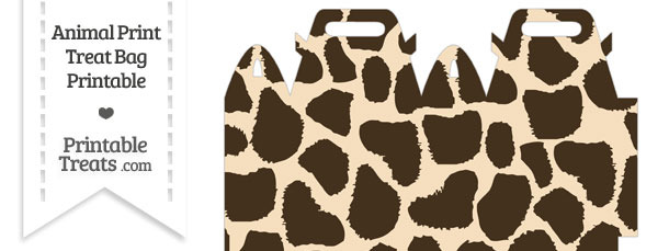 Giraffe Print Treat Bag