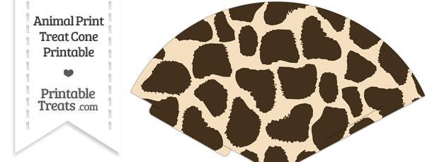 Giraffe Print Treat Cone