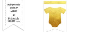 Gold Foil Baby Onesie Bunting Banner Blank Spacer Flag