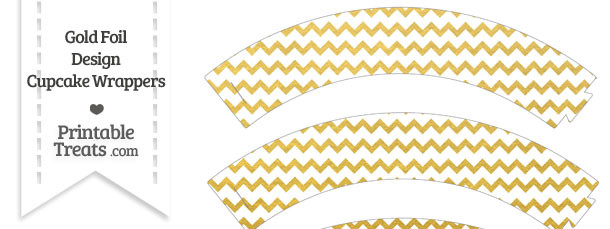 Gold Foil Chevron Cupcake Wrappers