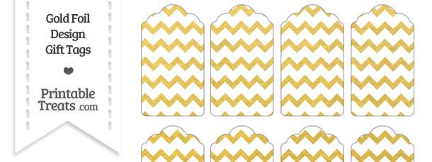 Gold Foil Chevron Gift Tags