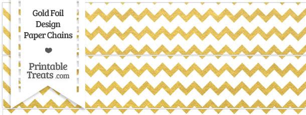 Gold Foil Chevron Paper Chains