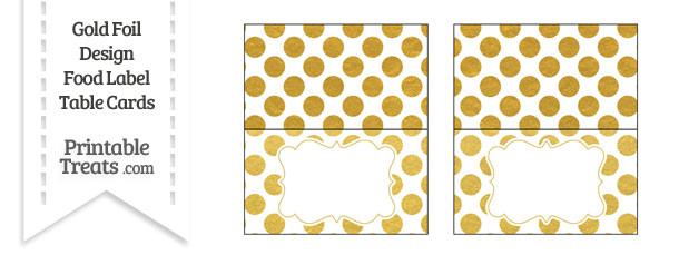 Gold Foil Dots Food Labels