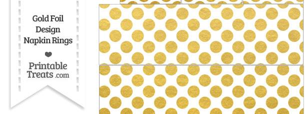 Gold Foil Dots Napkin Rings
