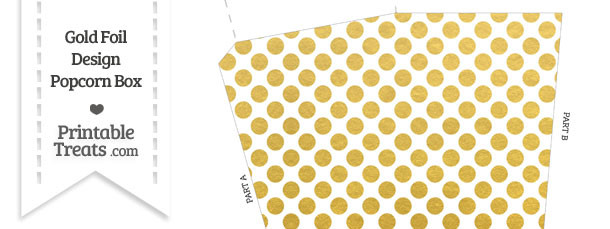 Gold Foil Dots Popcorn Box