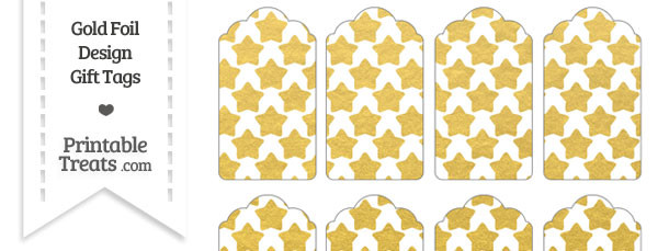 Gold Foil Stars Gift Tags