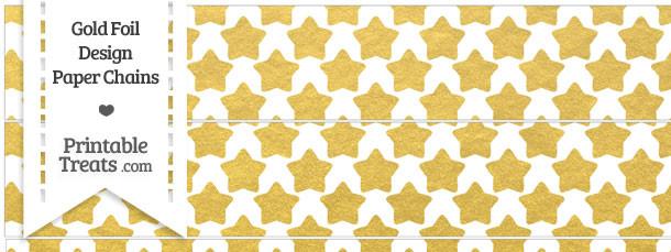 Gold Foil Stars Paper Chains