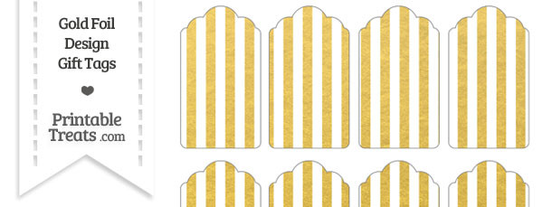 Gold Foil Stripes Gift Tags