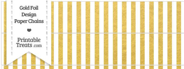 Gold Foil Stripes Paper Chains