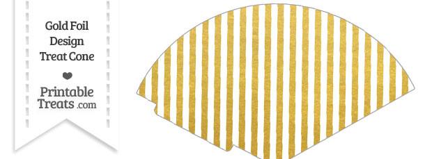 Gold Foil Stripes Treat Cone