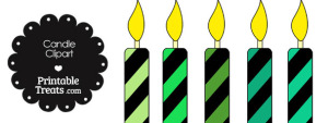 Green and Black Candle Clipart