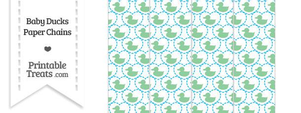 Green Baby Ducks Paper Chains
