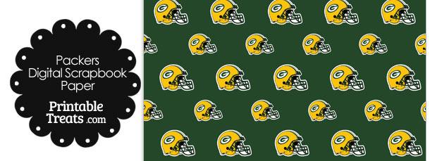 Green Bay Packers Football Helmet Digital Paper