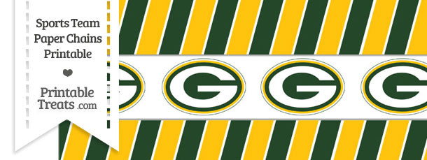Green Bay Packers Paper Chains