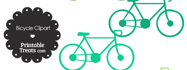 Green Bicycle Clipart