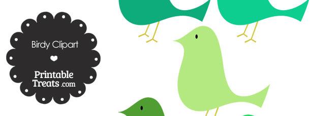 Green Birdy Clipart