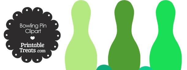Green Bowling Pin Clipart