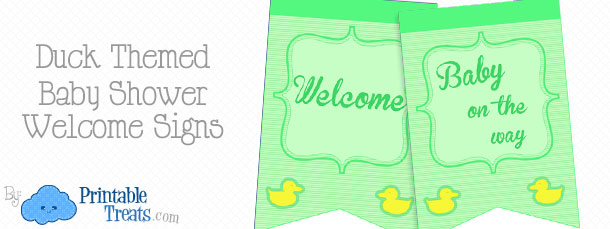 free-green-duck-baby-shower-welcome-sign