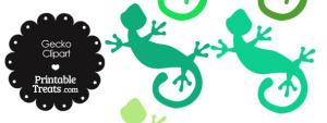 Green Gecko Clipart