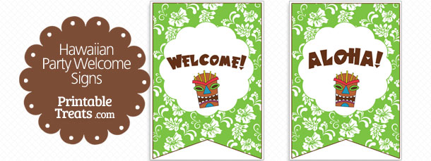 free-green-hawaiian-party-welcome-sign