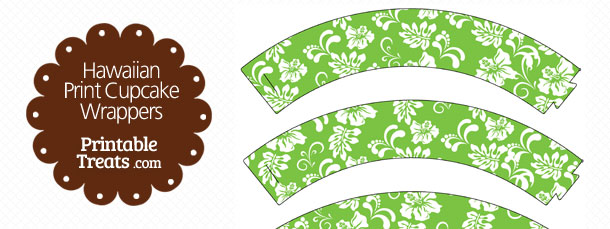 free-green-hawaiian-print-cupcake-wrappers